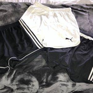 ADIDAS/PUMA soccer shorts BUNDLE all size MEDIUM